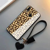 b691a8a599a Luxe Leopard hoge kwaliteit schokbestendige krasbestendige glazen backcover  ( Iphone 7 & 8 )