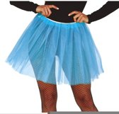 Petticoat/tutu rokje lichtblauw 40 cm voor dames - Tule onderrokjes azur blauw S-M-L