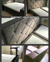 SleepNext HQ - Luxe Boxspring met TV Lift / 180x200cm / Relax Espresso