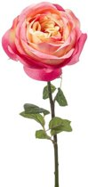 Roze roos kunstbloem 66 cm