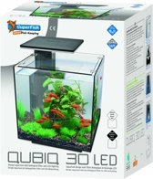 SuperFish QubiQ 30 LED - 32 x 32 x 42,5 cm - 30 L - Zwart