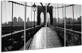Glas schilderij Brug, Steden | Zwart, Wit, Grijs | 160x80cm 4Luik | Foto print op Glas |  F007114
