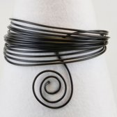 Aluminium draad - Aluminium wire 4mm 10m black - 1 stuk