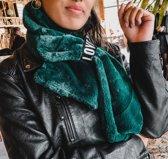 Trendy groene sjaal Furry Love Lange dames sjaal Fake fur Nepbont