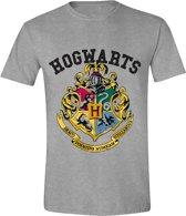 Harry Potter - Hogwarts  Mannen T-Shirt - Grijs - XL