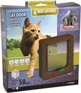 Cat door 4-ways brown - wall