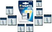 10 Stuks - Varta CR-P2 Professional Photo Lithium 6V 1600mAh batterij