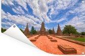 Mooie wolkenformatie boven Ayutthaya Tuinposter 180x120 cm - Tuindoek / Buitencanvas / Schilderijen voor buiten (tuin decoratie) XXL / Groot formaat!