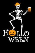 Halloween: Lustiges A5 Notizbuch liniert 120 Seiten zu Halloween. I Geschenkidee f�r Fans Skeletten und Geistern.