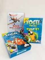 Spellen pakket 2x Weetjes kwartet en 1x Disney planes spel voor kinderen 6 jaar kaartspellen dieren