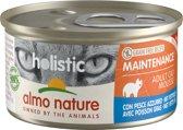 Almo Nature Natvoer voor Katten- Holistic Maintenance Mousse - 24 x 85g - Vette Vis