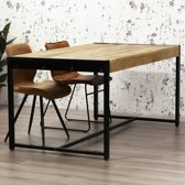 Nancy's Industriële Eetkamertafel - Mangohout Tafels - 200x100 cm - Eettafels