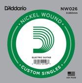 NW026 nikkel omwonden enkele snaar
