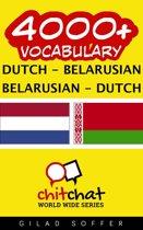 4000+ Vocabulary Dutch - Belarusian