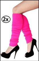 2x paar Beenwarmers pink