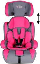 TecTake autostoel - 9 tot 36 kg - roze /grijs - met extra vulling - 400213