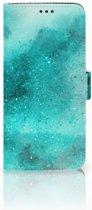 Samsung Galaxy S9 Plus Uniek Boekhoesje Painting Blue