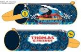 Thomas de Trein Rond Etui - 20 x 8 x 8 cm - Blauw