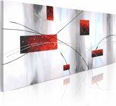 Handgeschilderd schilderij - Geometrische manifestatie