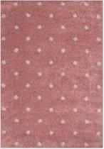 Vloerkleed stippen Vini - roze 120x170 cm