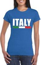 Blauw Italie supporter shirt dames L