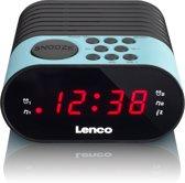 Lenco CR-07 - Wekkerradio met slaaptimer en dubbele alarm functie  - Blauw