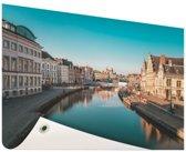 Stad in Europa Tuinposter 200x100 cm - Tuindoek / Buitencanvas / Schilderijen voor buiten (tuin decoratie) XXL / Groot formaat!