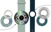 Deja Vu Premium horlogeset groen/blauw met zilverkleurig uurwerk