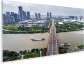 De brug over de Foshan rivier in het Chinese Foshan Plexiglas 80x40 cm - Foto print op Glas (Plexiglas wanddecoratie)
