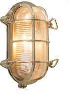 QAZQA Nautica - Plafondlamp en wandlamp - 1 lichts - D 105 mm - Goud/messing