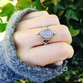 Earthshine ring - moonstone - maat 16.00 mm - maat 16.00 mm