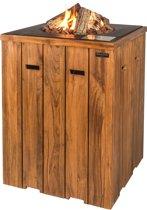 Happy Cocooning teakhout statafel (antraciet) 76 x 76 x 100 cm