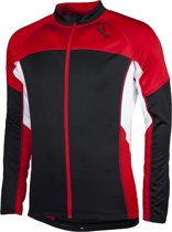 Rogelli Recco - Fietsshirt - Heren - Lange Mouwen - 3XL - Zwart/Rood/Wit