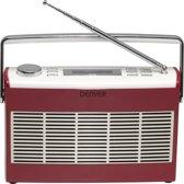 Denver DAB-37Red, DAB+/FM radio met klok functie, Rood