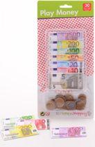 Eurospeelgeld op kaart JohnToy