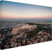 FotoCadeau.nl - Uitzicht op de Akropolis Canvas 120x80 cm - Foto print op Canvas schilderij (Wanddecoratie)
