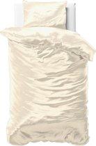 Sleeptime Beauty Skin Care - Dekbedovertrek - Eenpersoons - 140x200/220 + 1 kussensloop 60x70 - Creme