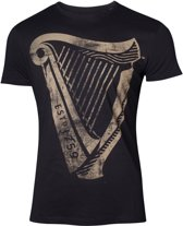 Guinness - Distressed Harp Logo Men s T-shirt - M