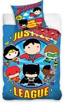 DC Comics Justice League - Dekbedovertrek - Eenpersoons - 140x200 cm + 1 kussensloop 70x80 cm - Multi