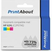 Huismerk compatible met HP 62XL (C2P07AE) Inktcartridge 3-kleuren Hoge capaciteit