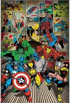 MARVEL DECO - Poster 61X91 - Here Come The Heroes