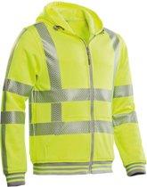 Santino hooded vest met RWS reflectie Vermont - 200173 - fluor geel - maat L