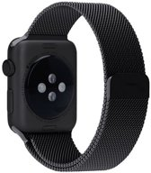 Merkloos Milanees bandje - Apple Watch Series 1/2/3/4 (42&44mm) - Zwart