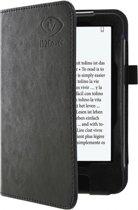 Luxe op maat gemaakte Book Case voor Tolino Vision - Hoes Case Cover met sleep functie, zwart , merk i12Cover