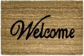 relaxdays Deurmat / voetmat - Deur mat met tekst: WELKOM - 60x40 cm - Kokos vezel.