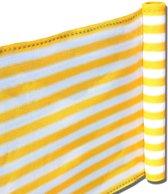 Balkonscherm - Kleur Geel/Wit - Balkondoek - 500x90cm - Duurzaam