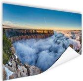 Wolk Grand Canyon bij zonsopgang Poster 60x40 cm - Foto print op Poster (wanddecoratie)
