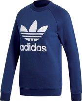 adidas Trefoil Crew  Sporttrui - Maat 30  - Vrouwen - donker blauw/wit