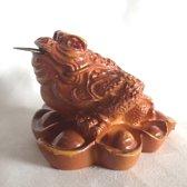 Feng Shui Yuan Bao kikker bruin 7.5x7.5x5.5cm