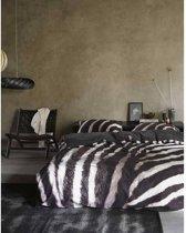 Essenza Zebra - Dekbedovertrek - Eenpersoons - 140 x 200/220 cm - Anthracite